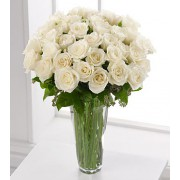The FTD® White Rose Bouquet - 36 Stems