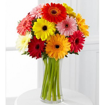 The FTD® Colourful World Gerbera Daisy Bouquet