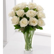 The FTD® Long Stem White Rose Bouquet