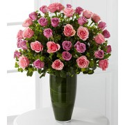 Serenade Luxury Rose Bouquet - 40 Stems of 60-cm Premium Long-Stemmed Roses