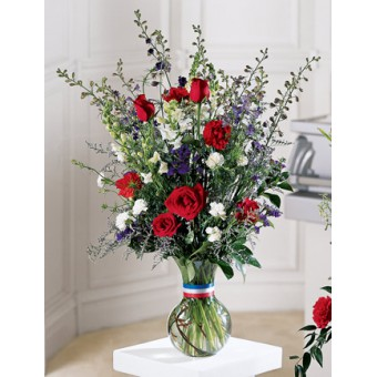 The FTD® Salute to a Patriot™ Bouquet