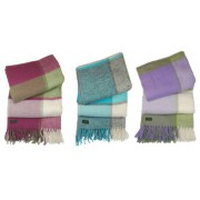 Tweedmill Textiles Lifestyle Block Check Pure New Wool Blanket Throw