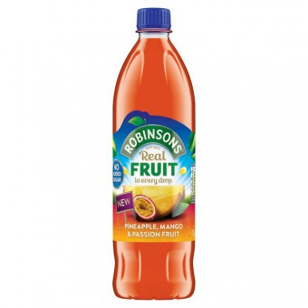 Robinsons Pineapple, Mango & Passion Fruit No Added Sugar
