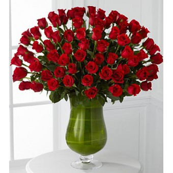 Attraction Luxury Rose Bouquet - 72 Stems of 60-cm Premium Long-Stemmed Roses