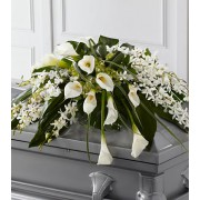 Angel Wings Casket Spray