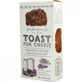 Toast for Cheese with Festive Spiced Fruits & Pecans