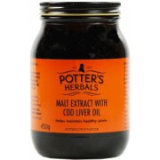 Potters Malt Extract With Cod Liver Oil Butterscotch Flavour